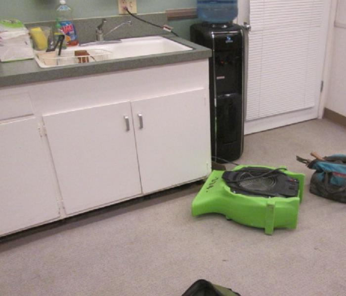 Office Kitchen Leak Dry Out in Burbank After